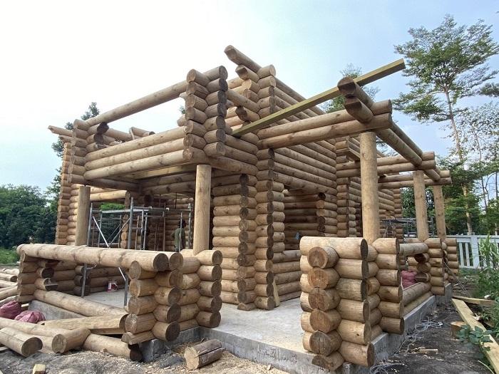 công nhà gỗ tại di linh đà lạt
