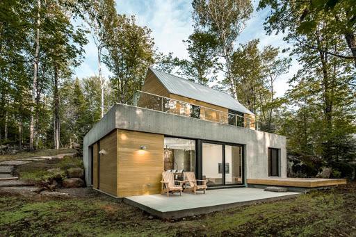 xây dựng nhà gỗ kết hợp kính
