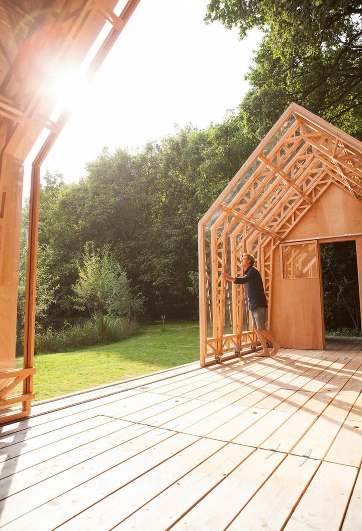 kiến trúc nhà gỗ xinh