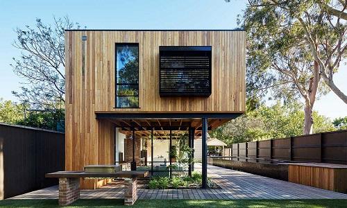 kiểu nhà vườn gỗ