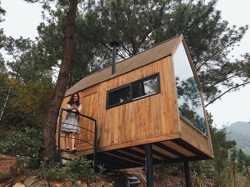 nhà gỗ rừng thông tại sóc sơn