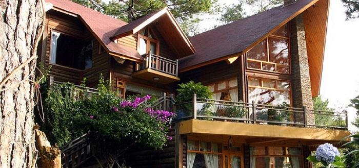 mẫu nhà gỗ 3 gian 2 tầng đẹp