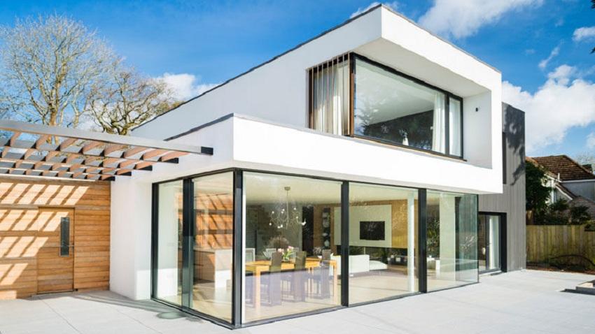mẫu nhà gỗ sồi trắng hiện đại đẹp