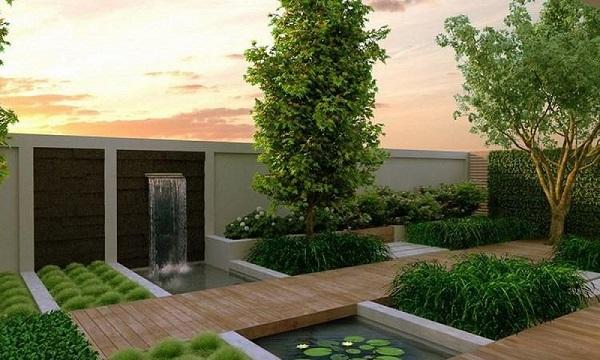 biệt thự gỗ sân vườn