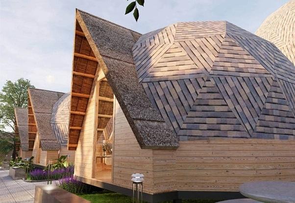 mẫu nhà gỗ bungalow ốc sên