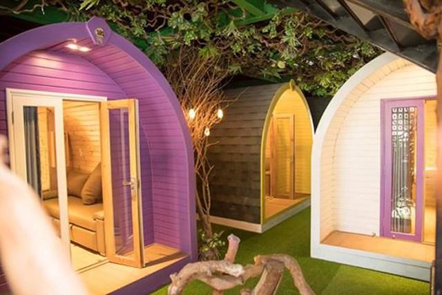Mẫu nhà gỗ bungalow dạng ống