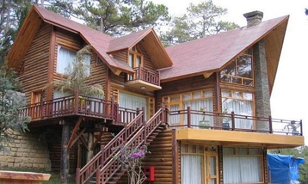 kiến trúc biệt thự gỗ đẹp tại nhà gỗ việt