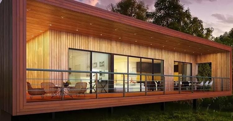mẫu nhà gỗ thông hiện đại đẹp