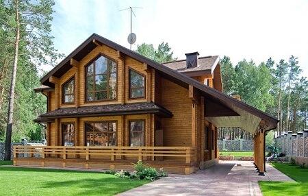 mẫu nhà gỗ hình trụ 2