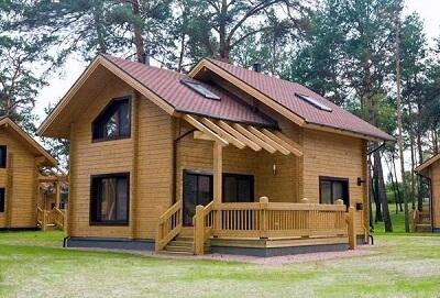 mẫu nhà gỗ thông sinh đôi