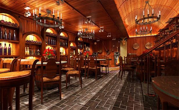 nhà hàng gỗ sang trọng