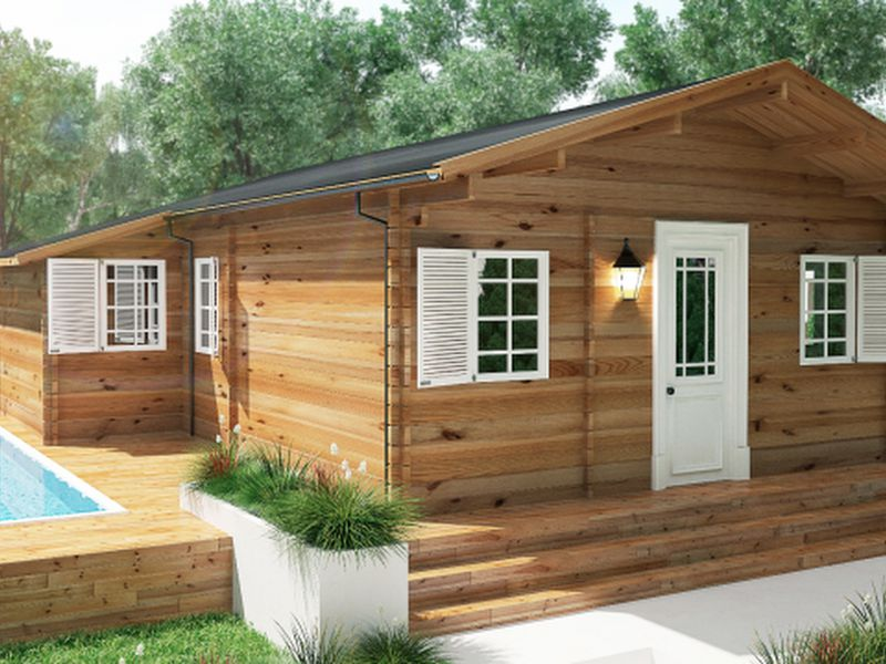mẫu nhà gỗ đẹp hiện đại