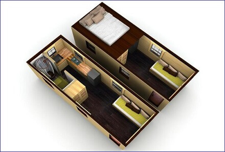 thiết kế nhà gỗ mini đẹp